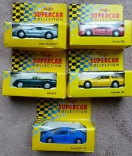 Shell Supercar Collection Maisto x 5 Boxed Bugatti Corvette MG Ferrari Aston