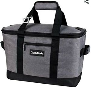 CleverMade Tahoe Cooler • Insulated Hand Basket • 30 Can Collapsible : 20 Liter