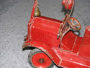 Rare Antique Huge Keystone Packard Chemical Pump Fire Engine Pressed Steel Truck