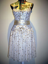 BNWT BCBG MAXAZRIA SEQUINED A-LINE PARTY FORMAL COCKTAIL DRESS SIZE US6 / AU10