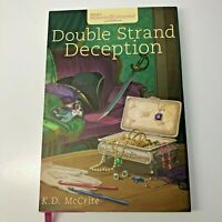 Double Strand Deception Annies Mysteries Guideposts HB w/  Dust jacket, Bookmark