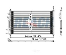 A/C Condenser Reach Cooling 31-3391 fits 05-07 Ford Focus