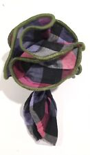 Pocket Square Round Plaid Multi Color With Olive Borders By Squaretrap New York