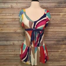 Anthropologie Ric Rac Colorful Shirt Size Small