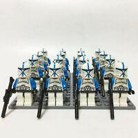 16 Pcs Minifigures 501st Clone Troopers Blue - Star War Army Trooper Lego MOC