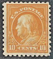 VINTAGE U.S. Stamp 1914 10 Cent FRANKLIN Perf 10