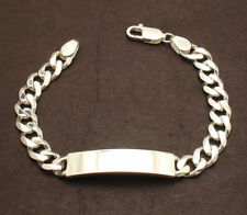 "9"" Mens 8mm Solid Miami Cuban Curb Chain ID Bracelet Real 925 Sterling Silver"