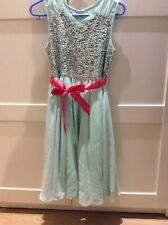 Girls Dress Monsoon, Used, Mint Colour With Sequince Top Size 11 Years