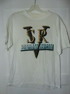 STEVIE RAY VAUGHAN DOUBLE TROUBLE 1989 Heavy duty T-shirt Men's XL pre own