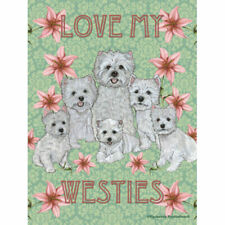 Westie, Love My Decorative Flag