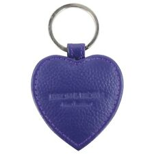 Byron & Brown Purple Love Heart Leather Keyring