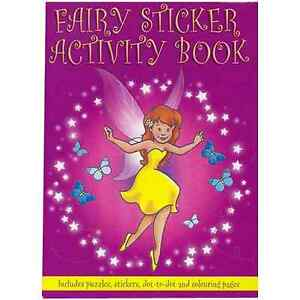 A6 FAIRY ACTIVITY STICKER BOOK Puzzles Travel Colouring Spell Magic Wings Stars