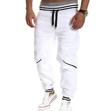 Men's Plain Jogger Sportwear Baggy Casual Harem Pants Slacks Trousers Sweatpants