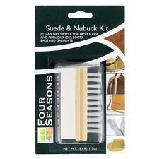 Four Seasons Suede & Nubuck Cleaner Care Kit Nylon Brush & Gum Bar