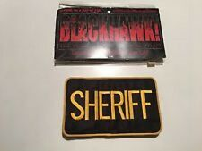 "SHERIFF PATCH, HOOK & LOOP, 5"" X 8"", FITS ON 2-1/4"" BELT, BLACKHAWK BRAND"