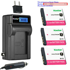 Kastar Battery LCD AC Charger for Sony NP-FT1 & Sony Cyber-shot DSC-T5/N Camera