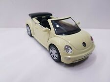 Volkswagen vw new Beetle Cabrio yellow kinsmart car model 1/32 scale diecast