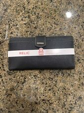 Brand New With Tags Relic By Fossil Women's Gray RFID-Blocking Checkbook Wallet