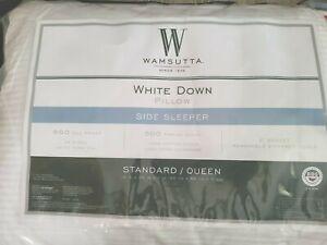 Wamsutta White Down Standard/Queen Side Sleeper Pillow