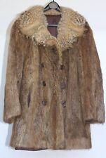 Beautiful Vintage Unpulled NUTRIA Fully Lined Multi Colour Jacket Coat S/M
