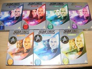 Star Trek The Next Generation TNG Complete Series 1-7 slimline cases boxes DVD