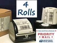 DYMO 4XL Labels Direct Thermal Shipping 4 Rolls 1744907 compatible 220 per roll