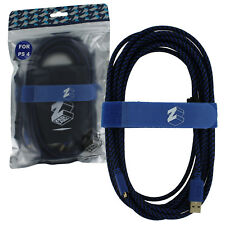 ZedLabz Ultra 5M braided charging USB cable for PS4 controllers charge play lead
