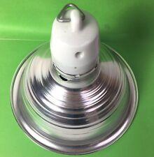 Heat Lamp Cover and Ceramic Holder  Spun Aluminium