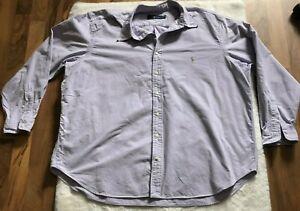 Ralph Lauren Men Button Down Shirt size 2XB Cotton Big Tall Long Sleeve