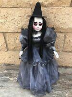 OOAK One Eye Black Gothic Mourning Witch Doll Art by Christie Creepydolls