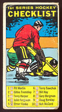 1964 65 TOPPS TALL BOYS HOCKEY 54 1st SERIES PENCIL MARKED CHECKLIST LG-VG CARD