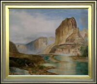 Framed Quality Hand Painted Oil Painting Monument Valley 20x24in
