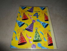 "For Boy Or Girl ""4th Birthday"" Greeting Card & Yellow Envelope, NEW & SEALED!!"