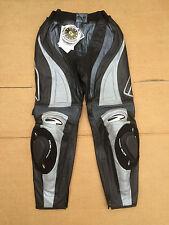 "RICHA Ladies Race Leather Motorbike / Motorcycle Trousers UK 16 (34"" waist) LB10"