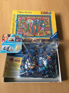 Ravensburger Puzzle, James Rizzi , ALL THAT LOVE IN THE MIDDLE OF THE CITY, Ovp