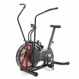 Bike Fan Exercise Bike with Air Resistance System Red and Black NS-1000