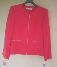Tahari ASL Pink Coral Zip Front Career Jacket Size 12 Size 14 Size 16 Regular 14
