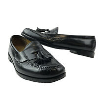 Cole Haan Pinch Tassel Loafers Mens Size 10 D Black Leather Slip On Dress Shoes
