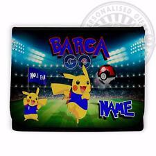 Barcelona Pokemon Billetera Dinero Flip escuela de fútbol * Personalizado * Regalo PT04