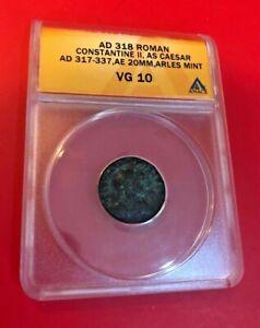AD 318 ROMAN CONSTANTINE II AS CAESAR AD 317-337 ANACS VG 10