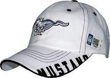 Ford Mustang Cap, original + lizenziert, 1a Qualität, US-Import, Pony, weiß, Top