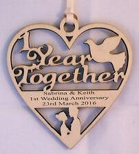 PERSONALISED 1 YEAR ANNIVERSARY PLAQUE - ENGRAVED WITH YOUR OWN WORDING
