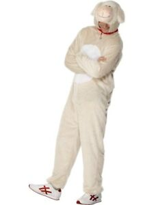 Adult's Lamb Sheep Costume Animal Fancy Dress Ladies Mens Funny Outfit