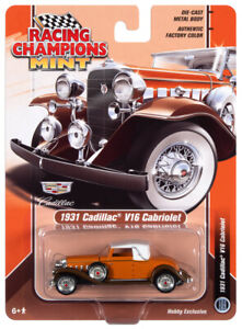1:64 RACING CHAMPIONS MINT Orange 1931 Cadillac V16 Cabriolet *NIP*