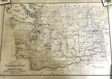 Large VTG Reproduction Of Authentic 1800's Washington State Map Kroll Mapping Co