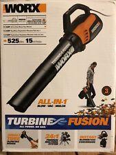 Worx Wg510 Turbine Fusion Electric Leaf Blower Vacuum Mulcher 120V New Sealed