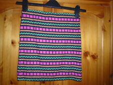 Pink, green and black geometric pattern mini skirt, GEORGE (G21), size 8, NEW
