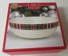 Lenox Vintage Plaid Large Serving Bowl NIB SKU#870680