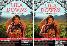 LILA DOWNS FLYERS X 2 - LONDON ROYAL FESTIVAL HALL - MEXICAN SINGER