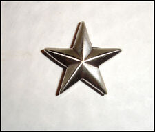 "Western Equestrian Cowboy Decor Antique Silver Star 3/4"" Concho"
